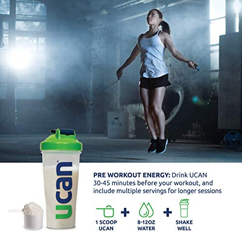 UCAN Energy Powder - Pre Workout & Post Workout Supplement for Men & Women - No Added Sugar, Non-GMO, Vegan, Gluten Free, Keto Friendly - Long Lasting, No Crash - 30 Servings - Unflavored