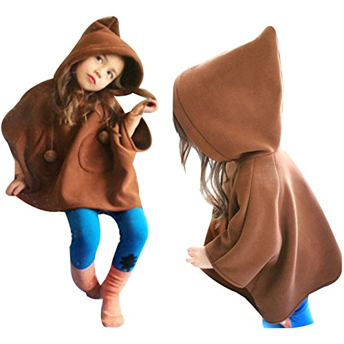 Cropped Bubble Jacket (Vanvler Kids Girls Hooded Coat&Outerwear Warm Baby Wind Coat Jackets Outfits Clothes (90,)