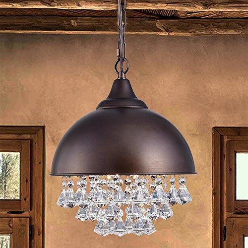 (Warehouse of Tiffany RL8293ABL/1L Mediana 1-Light 12-Inch Antique Bronze Dome Pendant)