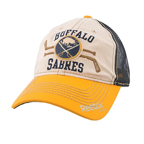 Buffalo Sabres Reebok NHL Dual Sticks Slouch Adjustable Hat (Reebok Sabres Buffalo Mesh)