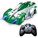 Force1 Remote Control Car Gravity Defying RC Car - RC Cars for Kids and Adults, Race Car Boys Toys for Floor or Wall w/ USB for Rechargeable Fast RC Car (Green)