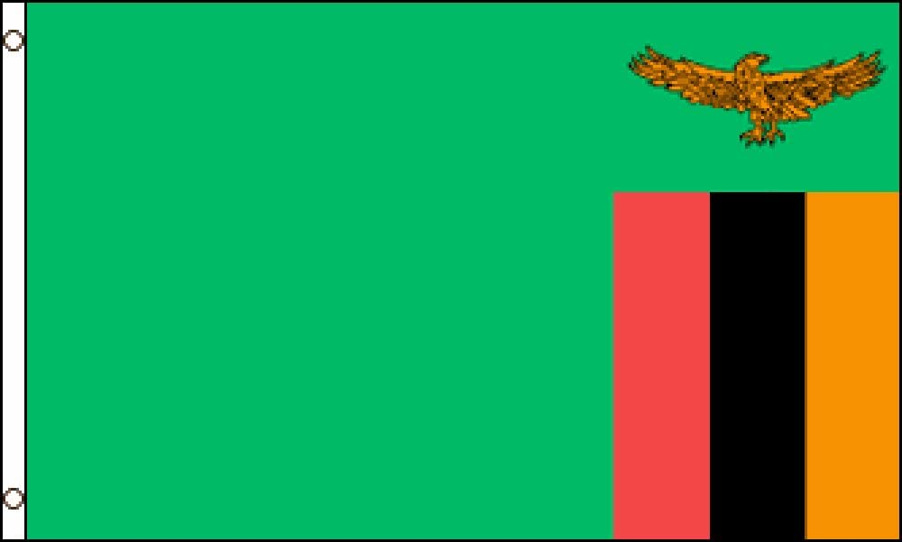 Zambia flag 2X3ft poly