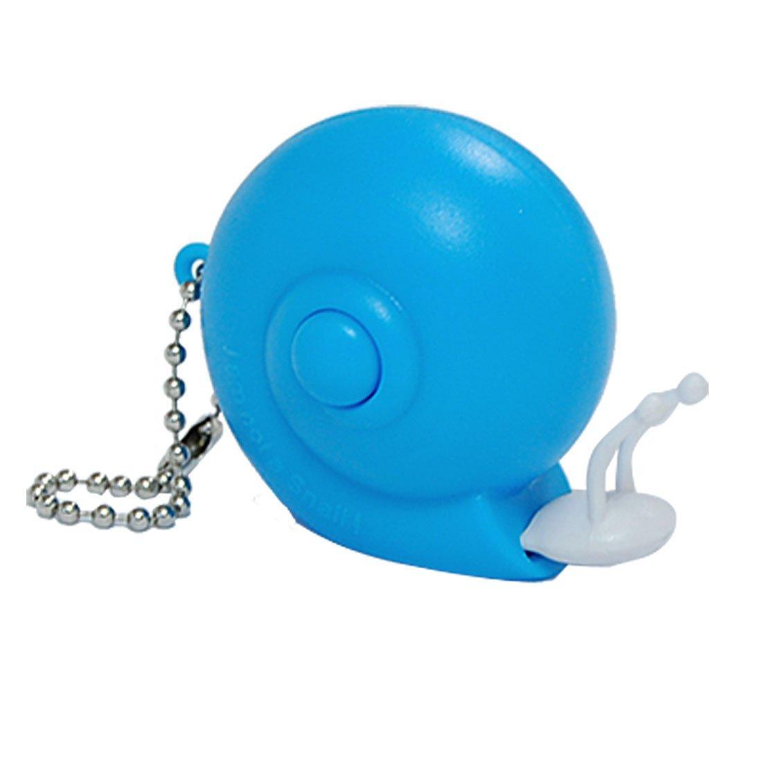 SODIAL(R)Azul Cinta metrica de caracol de plastico Regla con llavero 1M