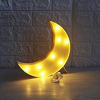 LED gece ışığı pille çalışan masa lambası Laufschrift LED parti dekorasyon çocuk odası gece lambası Mond