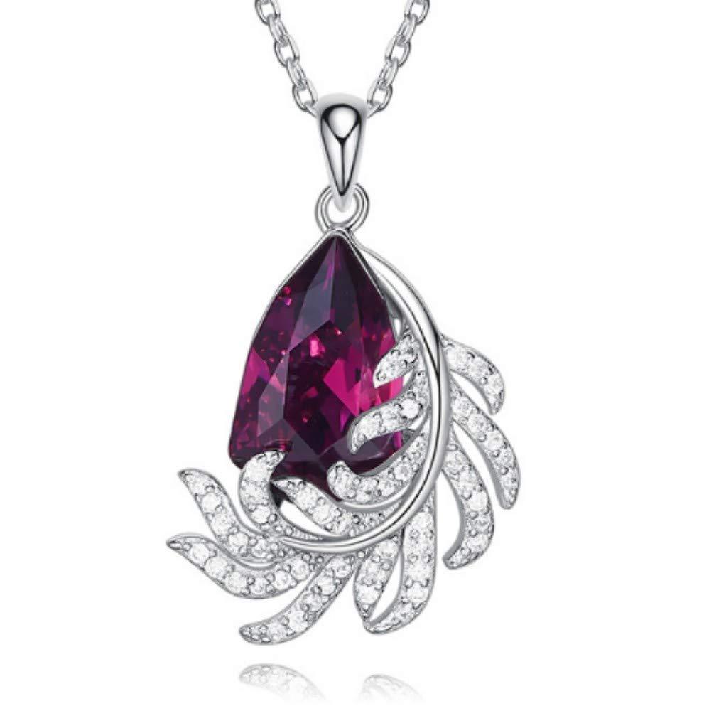 QWERST女性ネックレススターリングシルバーペンダントファッションエレガントシンプル絶妙なネックレス最高の贈り物   B07MCGY11Y