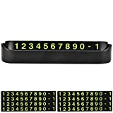 Temporary Parking Card Phone Number Card, Car Luminous Night Light Switch Hidden Digital Phone Number for Notification The Car Owner(Double Number Plate)