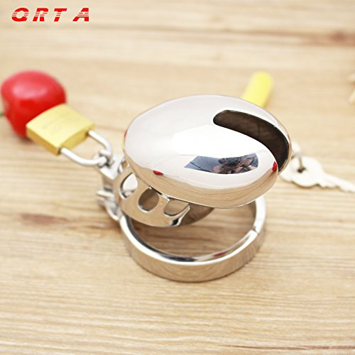 ccTina 2015 Male Chastity Sexy Slave Male Metal Chastity Device Large Cock Cages Men's Virginity Lock Penis Ring Adult Games Sex Toys by ccTina