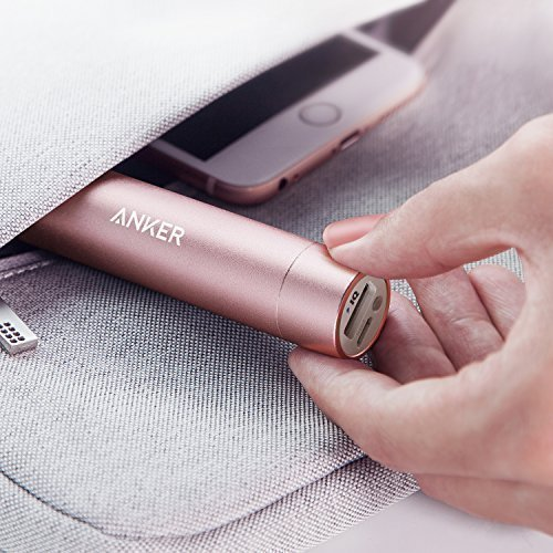 Anker PowerCore+ mini, 3350mAh Lipstick-Sized Portable Charger (3rd Generation, Premium Aluminum Power Bank), One of the Most Compact External Batteries by Anker (Image #6)