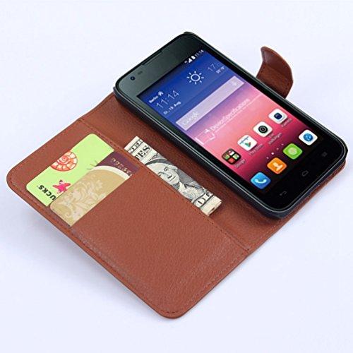 Manyip Funda Huawei Ascend Y550,Caja del teléfono del cuero,Protector de Pantalla de Slim Case Estilo Billetera con Ranuras para Tarjetas, Soporte Plegable, Cierre Magnético(JFC5-1) H