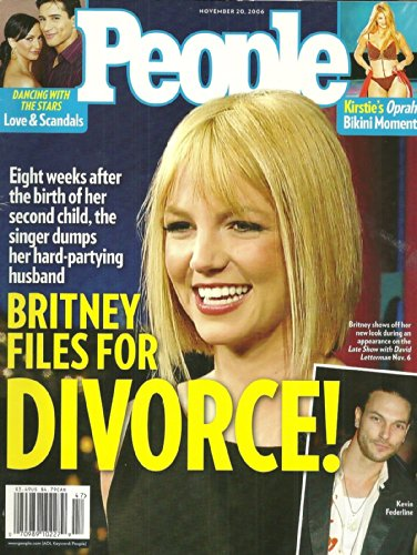Britney Spears, Dancing With the Stars: Love & Scandals, Kristie Alley - November 20, 2006 People Magazine