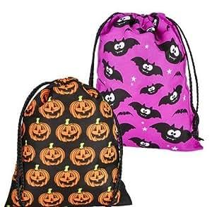 "(24) 10.5""x8"" Halloween Drawstring Bags ~ HAPPY HALLOWEEN!"