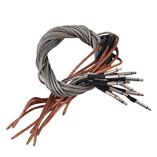 Yibuy 45cm Saddle Bridge Piezo Soft Pickup Cable for Acoustic Guitar Set of 20 by Yibuy