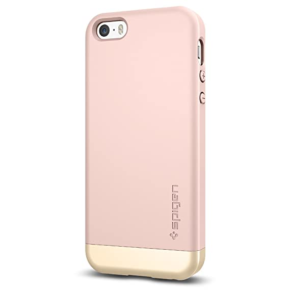 new style ac4f3 be178 Spigen iPhone 5se Case Style Armor Rose Gold 041CS20180: Amazon.in ...