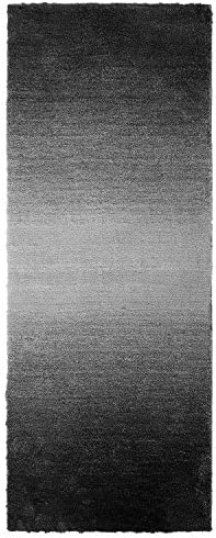 LOCHAS Thick Plush Shag Area Rug Soft Solid Superior Collection Fluffy Shaggy Rug for Living Room, Dining Room and Bedroom Kids Carpet, 2.3 x 6 , Grey