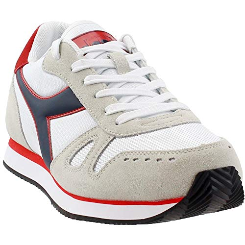 new product 88b1e 892ca Diadora Mens Simple Run Running Athletic White