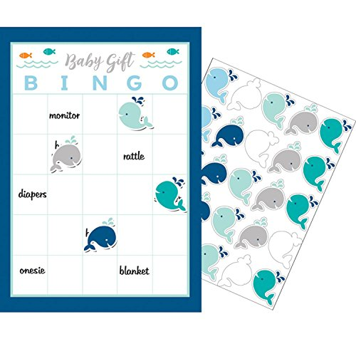 "Party Central Club Pack of 60 Blue and White Little Spout ""Baby Gift"" Boy Game Bingo 10"" by Party Central"
