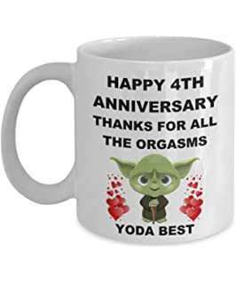 4 Year 4th Wedding Anniversary Gifts For Him Men Her Women Husband Wife Couples Partner Lover