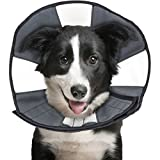 ZenPet ProCone Pet E-Collar for Dogs and Cats - Comfortable Soft Recovery Collar is Adjustable for a Secure and Custom Fit - Easy for Pets to Eat and Drink - Works with Your Pet's Collar - Large
