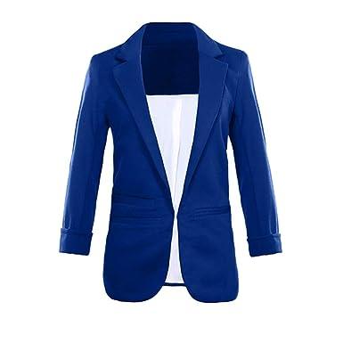 1f61c6e1fc2d71 Dorical Blazer Damen 3/4 Längere Cardigan Elegant Blazer Leicht Dünn Bolero  Jacke Coat Slim