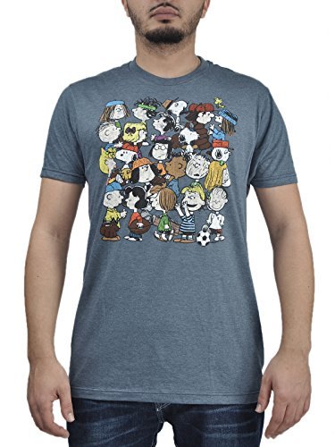 Men's Peanuts Gang T-shirt. Small to XXL