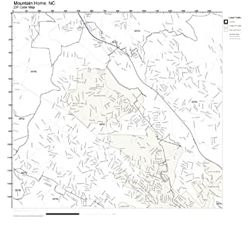 Mountain Home Ar Zip Code Map.Amazon Com Zip Code Wall Map Of Mountain Home Nc Zip Code Map Not