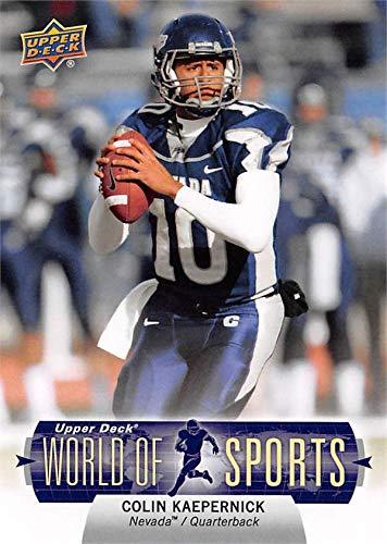 Colin Kaepernick football card (Nevada Wolf Pack) 2001 Upper