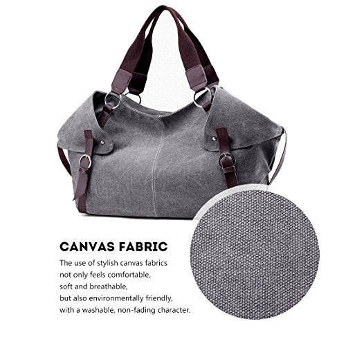 Handbag Purple Alovhad Top Shoulder Tote Bag Canvas Bags Travel Crossbody Women Weekend Casual Hobo Red Handle Purse Bag 66rqagw