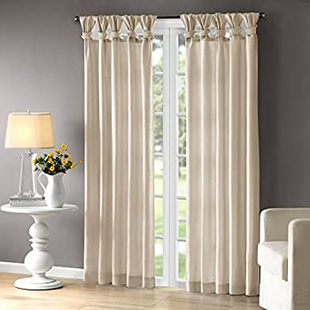 Amazon Com Madison Park Emilia Twist Tab Lined Window