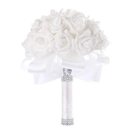 Huichang Brautstrauss Blumenstrauss Kunstliche Hochzeitsstrauss