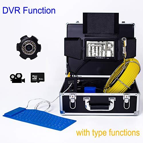 最安値級価格 7インチ23 40M mm工業用パイプライン下水道検知カメラIP68防水排水検知1000 TVLカメラDVR機能,80M B07Q1L3YQT B07Q1L3YQT 40M 40M 40M, 値引:9b26563e --- arianechie.dominiotemporario.com