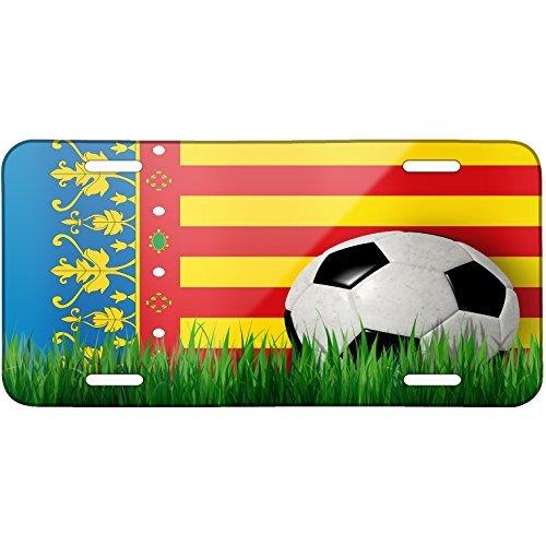Soccer Team Flag Valencia region Spain Metal License Plate 6X12 Inch by Saniwa