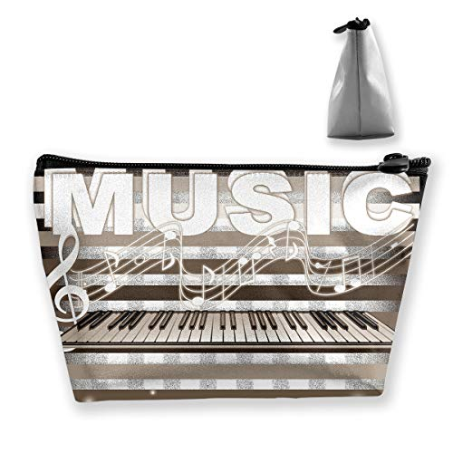 Trapezoid Toiletry Pouch Portable Travel Bag Piano Music Pen Organizer by Laur (Image #1)