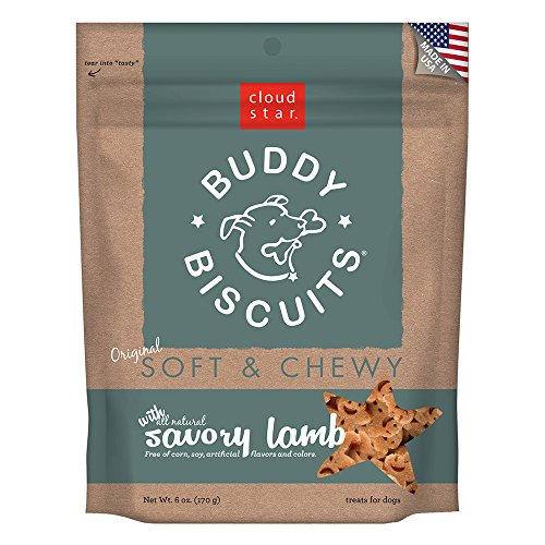 Cloud Star Soft And Chewy Buddy Biscuits, Lamb Flavor, 6-Ounce Pouches (Pack Of 4)