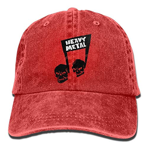 ONGH Heavy Metal Shull Music Note Denim Hat Gorras de béisbol ...