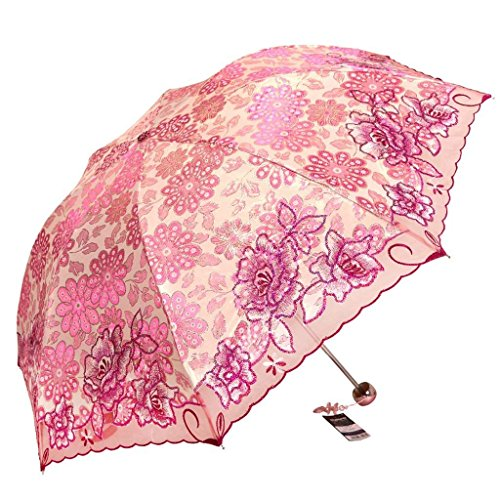 Pare Super Ju Femme Soleil UV Parapluie Parapluie JU Parapluie Be Brodé Légère Parapluie Trois Parapluie A66 Double Pluie Parapluie Ju Soleil vdw6AxqpA
