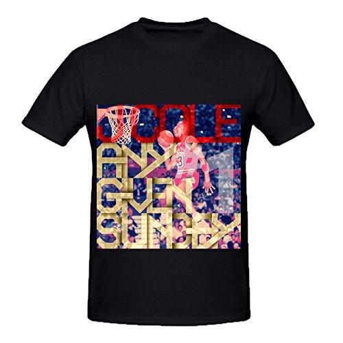 J Cole Any Given Sunday 1 Mens O Neck Funny Shirt Black