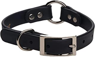 product image for Mendota Pet Durasoft Imitation Leather Collar - Center Ring Dog Collar - Made in The USA - Waterproof, Odor Resistant - Black, 3/4 in x 12 in