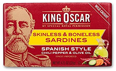 King Oscar Skinless & Boneless Sardines Spanish Style, 4.23 Ounce (Pack of 12) from Chicken of the Sea