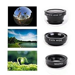 EEEKit 4in1 Photo Kit for Samsung Galaxy S7 S7 Edge iPhone 6S Plus SE,Tripod,8X Telescope Lens,Bluetooth Remote Control,Marco Wide Angle FishEye Lens