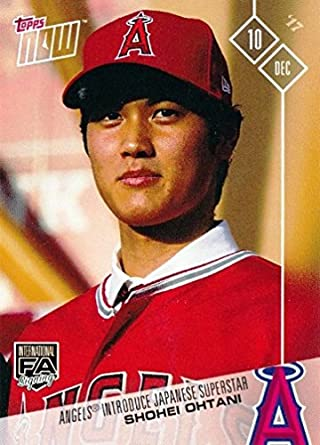 4fc08c96cc1 2017 Topps Now  OS-80 Shohei Ohtani Baseball Card - His 1st Official Los