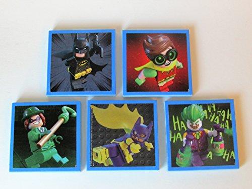 Lego Batman (Set #2) Note Pads Set of 5 - Excellent Party Favors - Lego Batman Birthday Party Favors