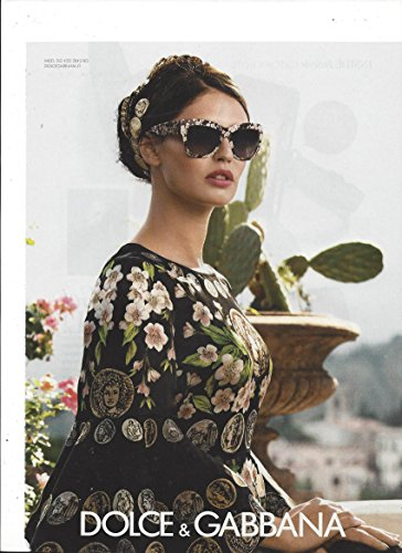 **PRINT AD** With Bianca Balti For Dolce & Gabbana 2014 - 2014 Dolce Sunglasses And Gabbana