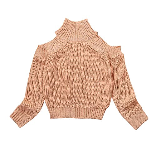 sunbona Mom&Daughter Matching Autumn Winter Sweater Casual Off Shoulder Pullover Long Sleeve Family Outfits Tops