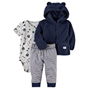 Carter's Baby Boys 3 Piece Paw Print Little Jacket Set 6 Months,Blue