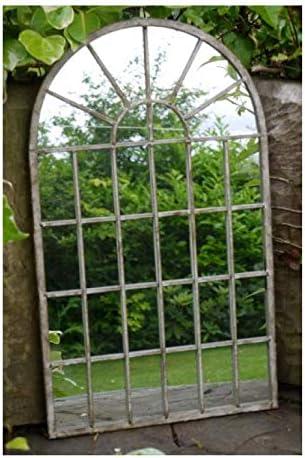 Desconocido Espejo de jardín de Metal con diseño gótico y arqueado, 36 x 60 x 1 cm: Amazon.es: Jardín