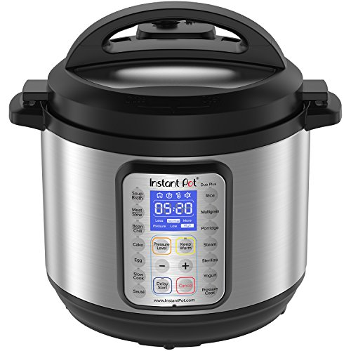 Instant Pot DUO Plus 8 Qt 9-in-1 Multi- Use Programmable Pressure Cooker, Slow Cooker, Rice Cooker, Yogurt Maker, Egg Cooker, Sauté, Steamer, Warmer, and Sterilizer (Rack Jar Traditional)
