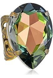 Sorrelli Teardrop Crystal Ring