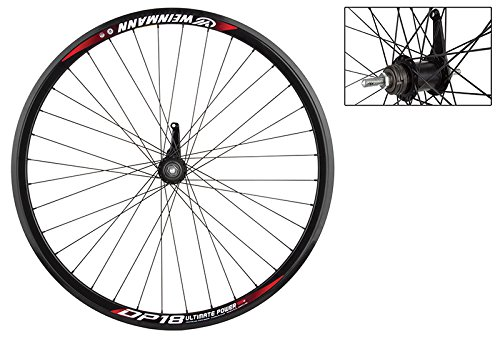 (WheelMaster Weinmann DP18 Rear Wheel - 700c, 36H, Coaster Brake, Black)
