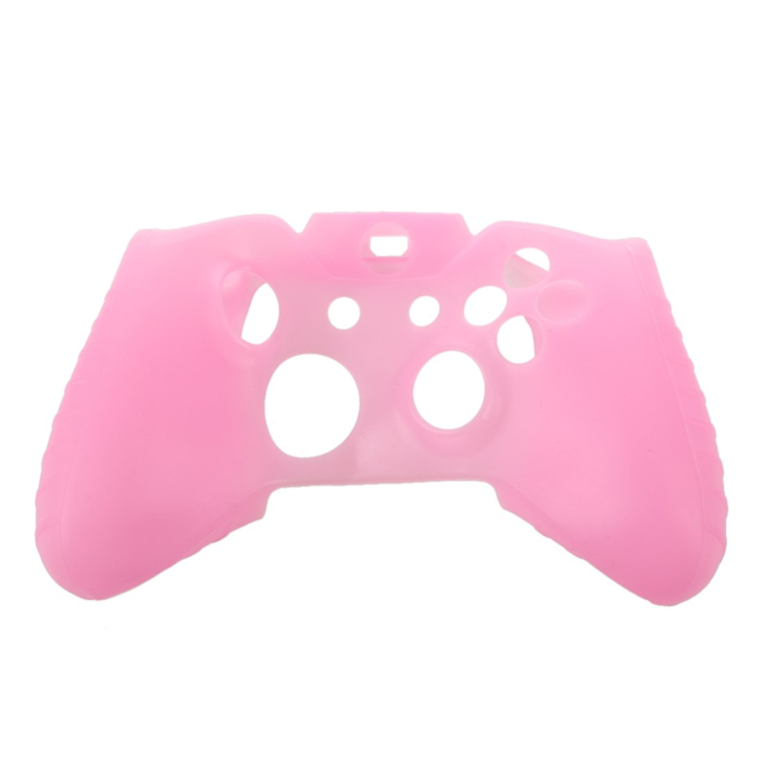 SODIAL(R) Soft Silicone Gel Protective Skin Cover Case for XBOX ONE Controller Pink