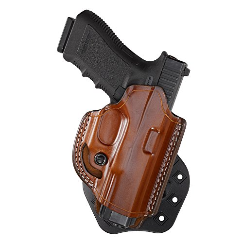 Aker Leather 268A FlatSider XR19 Open Top Paddle Holster for S&W M&P 9/40, Tan, Right Hand